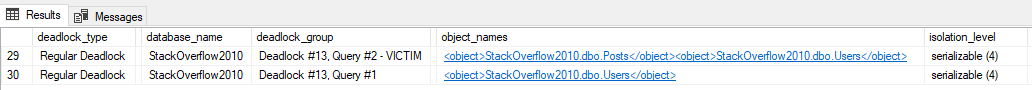 [Screenshot of blitzlock results showing serializable isolation on both sessions][3]